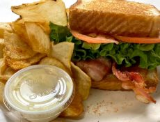 BLT sandwich and chips