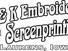 B & K Embroidery and Screenprinting logo