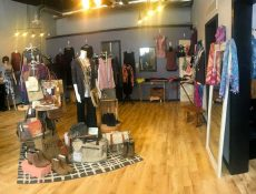Panoramic interior view of Believe Boutique