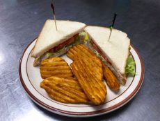 Sandwich and potato wedges
