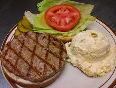 Hamburger and mashed potatoes