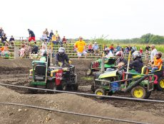 Lawn mower demo derby