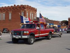 Fonda volunteer fire truck in a parade
