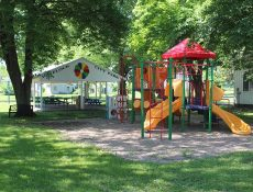 Havelock City Park shelter and playground