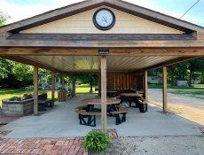 Park shelter at Heritage Park
