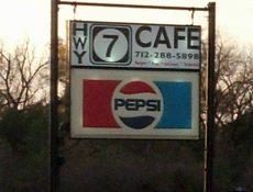 Hwy 7 Cafe sign