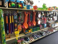 Summer toy aisle
