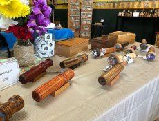 Assorted wooden kaleidoscopes