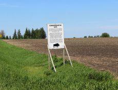 Commemorative Site sign