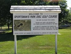 Sportsman's Park Disc Golf Course sign