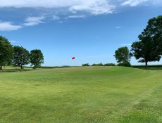 Hole on a hill at Laurens Golf Club