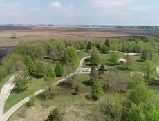 Aerial view of Little Clear Lake park