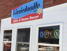 Lizziedoodle banner and building exterior