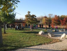 Families at Melson Park in autumn