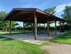 Park shelter at Melson Park