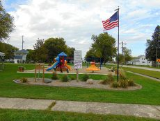 Landscaping and playground at Panther Park