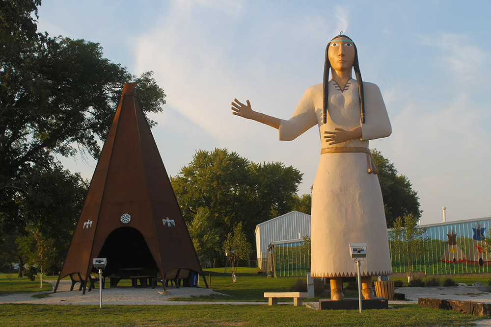 Princess Statue and teepee