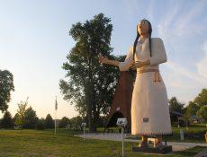 Princess Statue and teepee