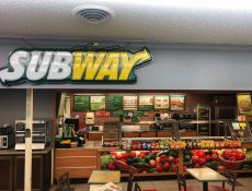 Subway restaurant interior