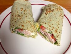 Wrap with ham and veggies