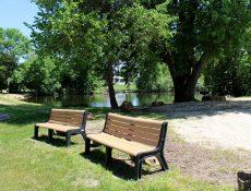 Park benches at Sunset Ridge Park