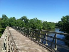 Wooden bridge on Three Rivers Trail