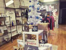 Christmas items on display