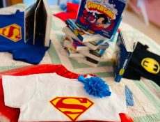 Supergirl merchandise on display at William and Wesley