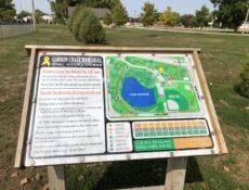 Disc golf map close