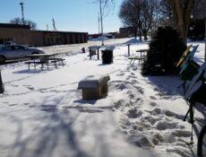Laurens city park winter