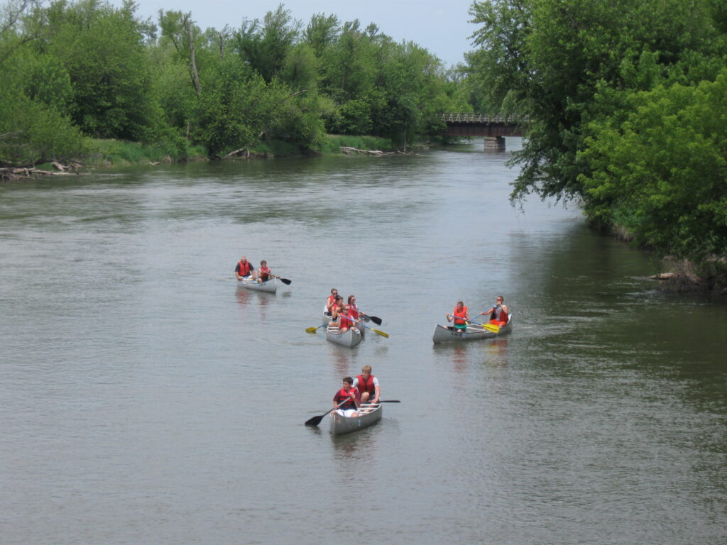 Kayaking on the Des Moines River in 2010.