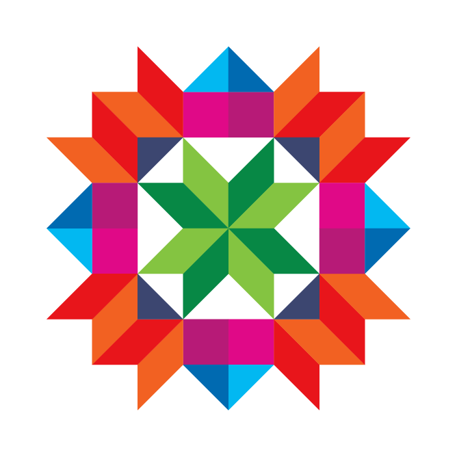 Illustration of a quilt square pattern