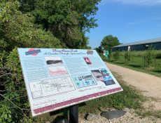 Three Rivers Trail informational sign