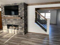 Murphy's house fireplace