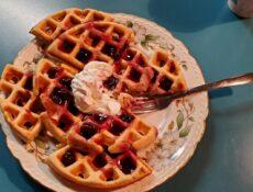 Aspen leaf waffle